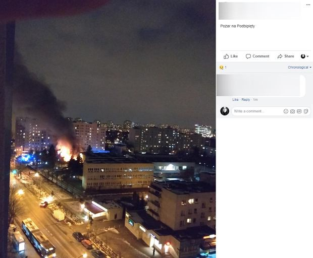 Pożar na Mokotowie