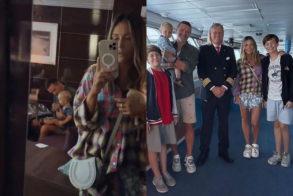 Małgorzata Rozenek i Radosław Majdan z rodziną na wakacjach