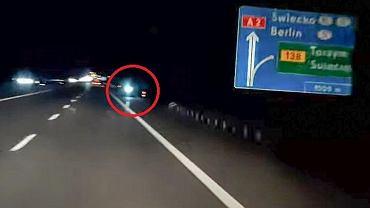 Litwinowi na autostradzie A2 zabrakło paliwa. Na najbliższą stację pojechał elektryczną hulajnogą