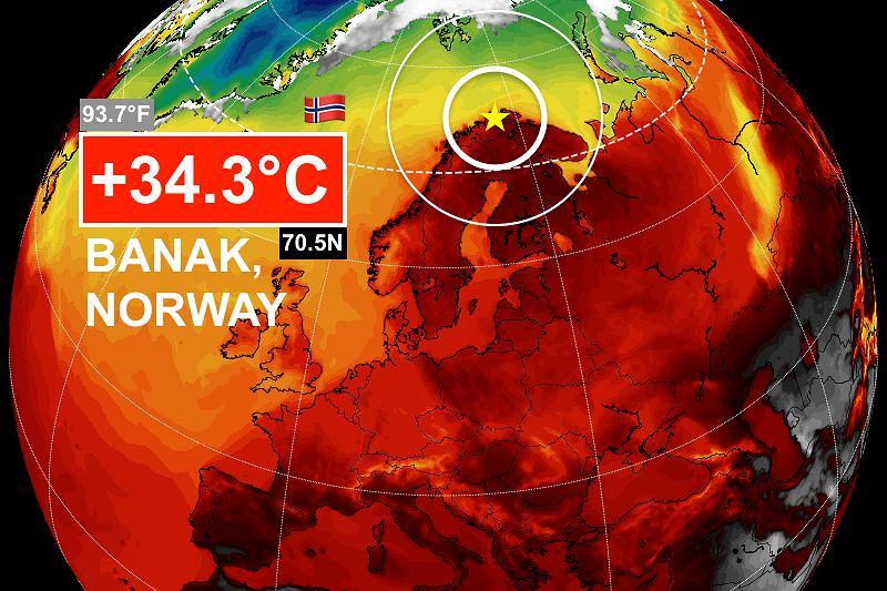Upały w Skandynawii. Padły nowe rekordy temperatur