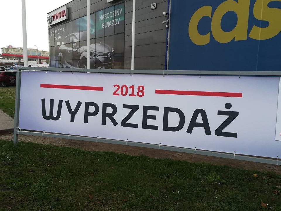 Wyprzedaż rocznika 2018 w salonie Toyoty przy ulicy Grunwaldzkiej w Gdańsku