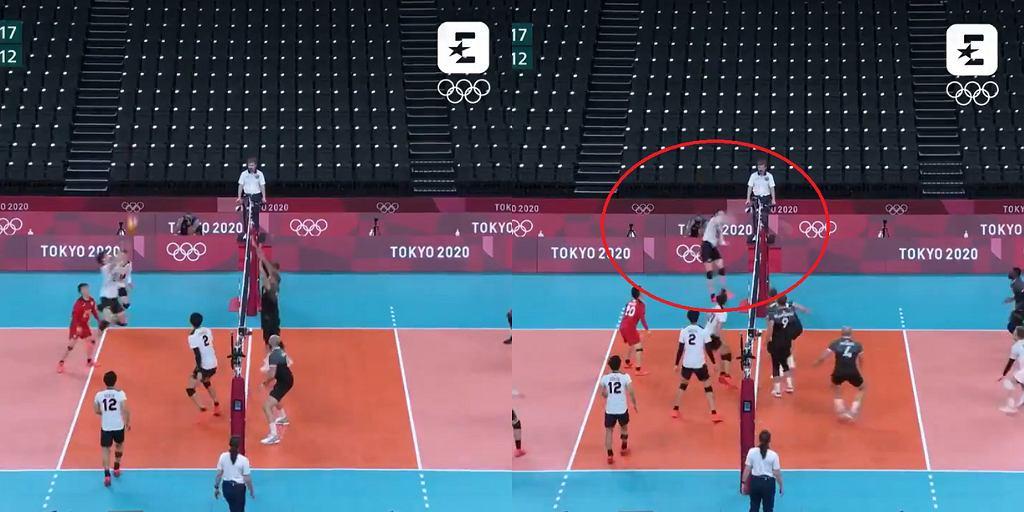 Akcja reprezentacji Japonii w meczu z Kanadą