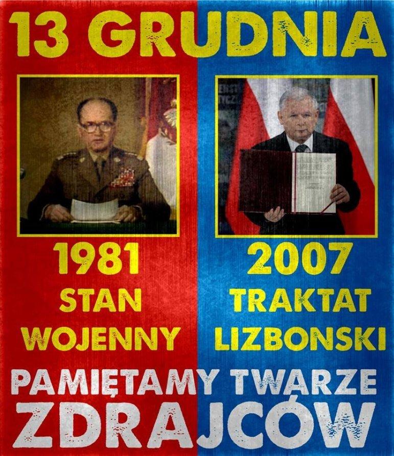 Fotomontaż na oficjalnym profilu Młodzieży Wszechpolskiej