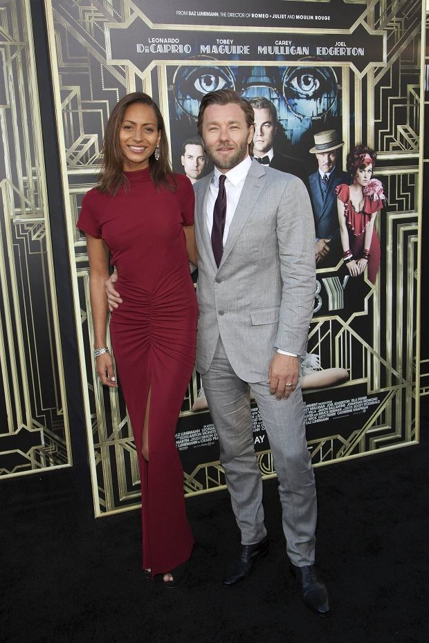Alexis Blake and Joel Edgerton attend the 'The Great Gatsby' world premiere at Avery Fisher Hall at Lincoln Center for the Performing Arts in New York May 1, 2013. REUTERS/Andrew Kelly (UNITED STATES - Tags: ENTERTAINMENT)