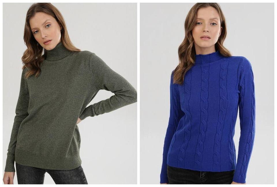 cienkie swetry