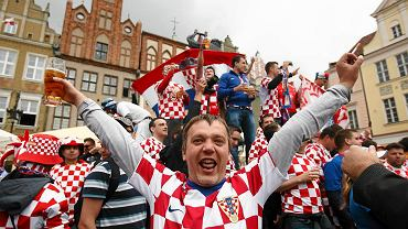 Chorwackich kibiców w Poznaniu było dużo. Podobnie jest w Gdańsku