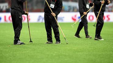 Murawa na Stadionie Narodowym podczas meczu ze Słowenią