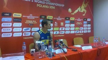 Felipe Fonteles na konferencji po meczu Polska - Brazylia