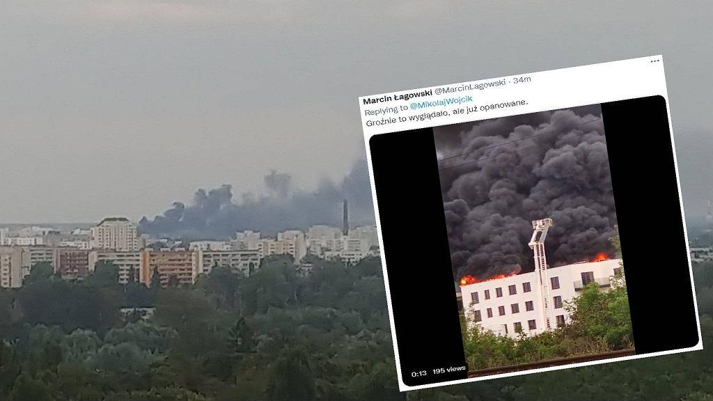 Płonie budynek na os. Wilno na Targówku