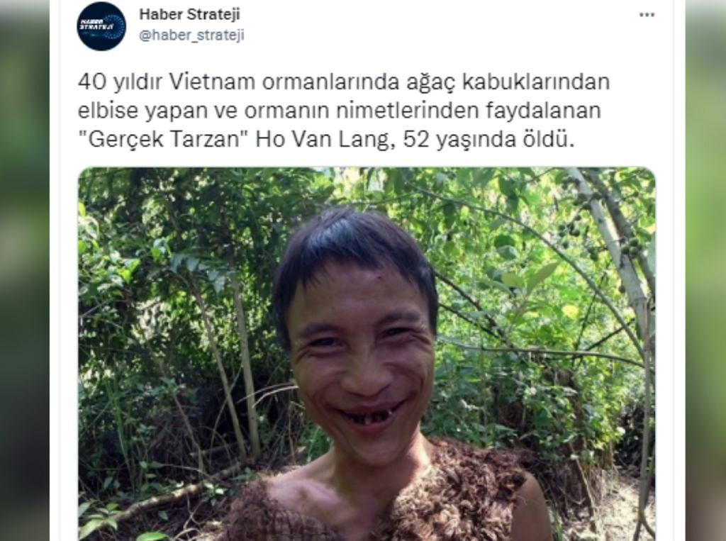 Ho Van Lang dżungli mieszkał przez 40 lat