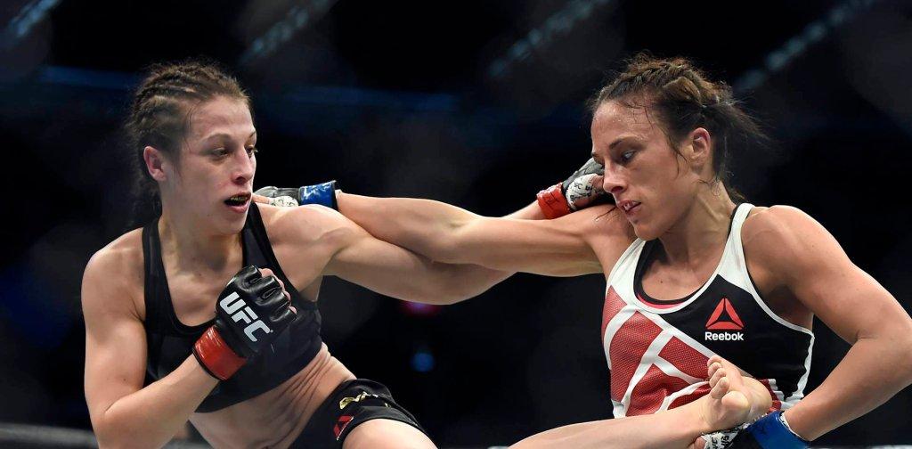 Joanna Jędrzejczyk w walce z Valerie Letourneau