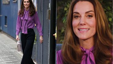 Księżna Kate założyła bluzkę Gucci tyłem na przód. Wpadka czy zamierzony cel?