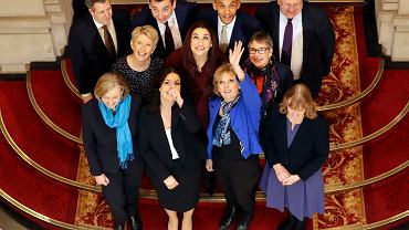 Członkowie nowo utworzonej partii 'The Independent Group' składającej się z byłych parlamentarzystów Partii Pracy i Torysów.