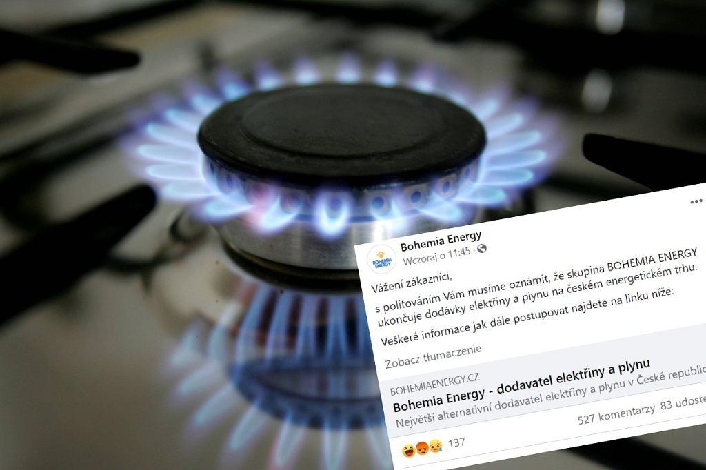 Czechy. Bohemia Energy zatopiona przez ceny gazu. Pisze o 'drastycznym kroku'