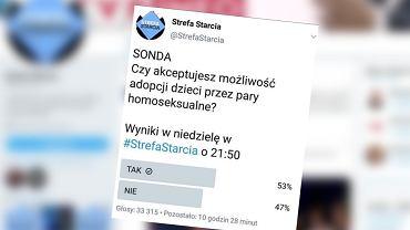 TVP skasowało sondę dot. adopcji przez pary homoseksualne. Wynik: 53 procent