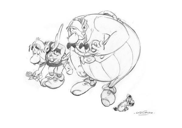 Na oficjalnym twitterowym koncie komiksu o Asteriksie i Obeliksie ukazał się rysunek Alberta Uderzo poświęcony