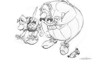 """Na oficjalnym twitterowym koncie komiksu o Asteriksie i Obeliksie ukazał się rysunek Alberta Uderzo poświęcony """"Charlie Hebdo"""""""