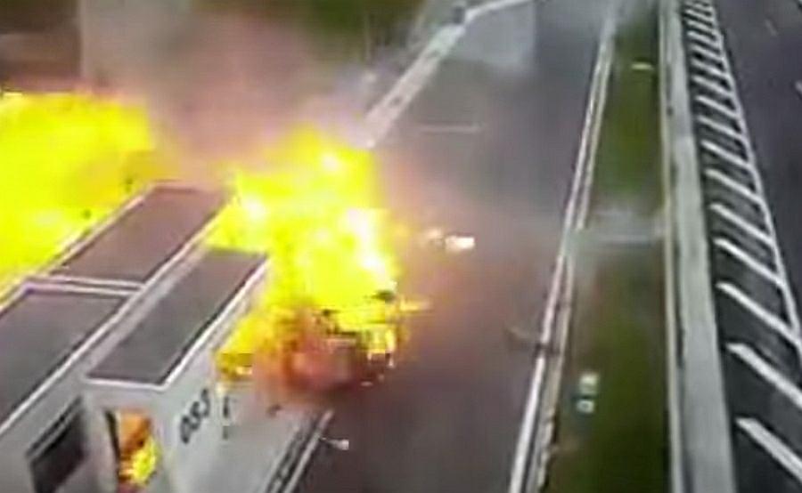 Wypadek na autostradzie w Grecji