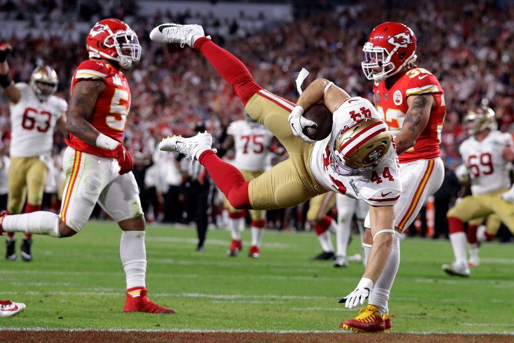 2.02.2020 r., Miami, Floryda. Mecz o puchar Super Bowl pomiędzy drużynami Kansas City Chiefs i San Francisco 49ers.