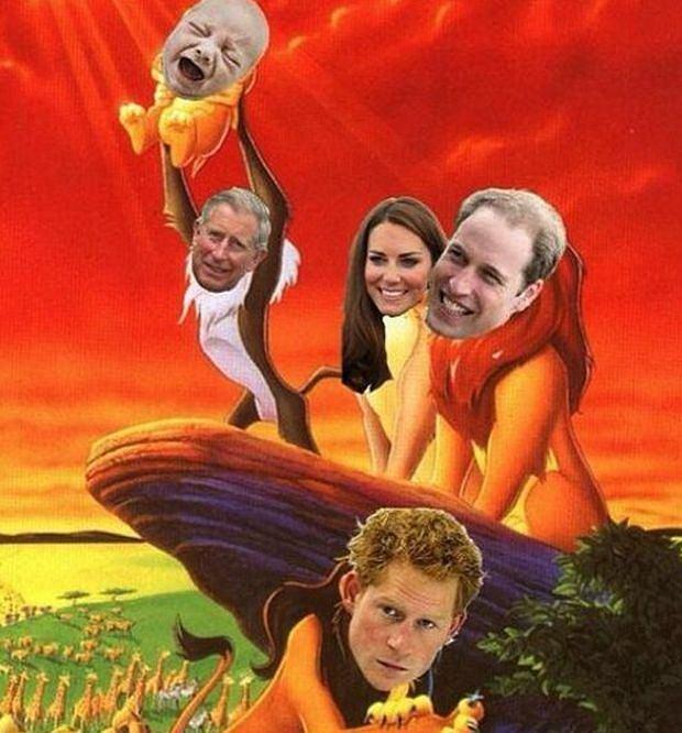 Memy o dziecku Kate i Williama
