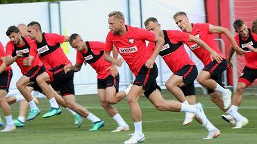 Kamil Glik i koledzy podczas treningu. Mistrzostwa Świata w Piłce Nożnej Rosja 2018. Soczi, 21 czerwca 2018