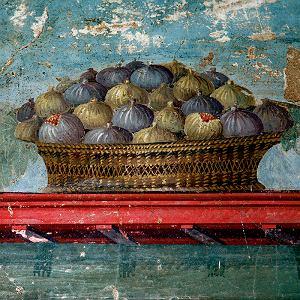 Koszyk z figami, fresk w Villa Poppaea, Pompeje (I wiek n.e.)