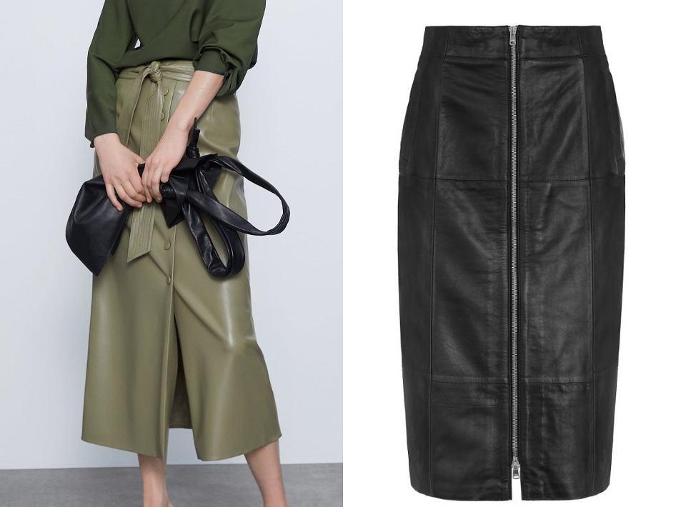 Spódnica ołówkowa z Zary: 199,00 zł, spódnica czarna Ochnik: 499,90 zł