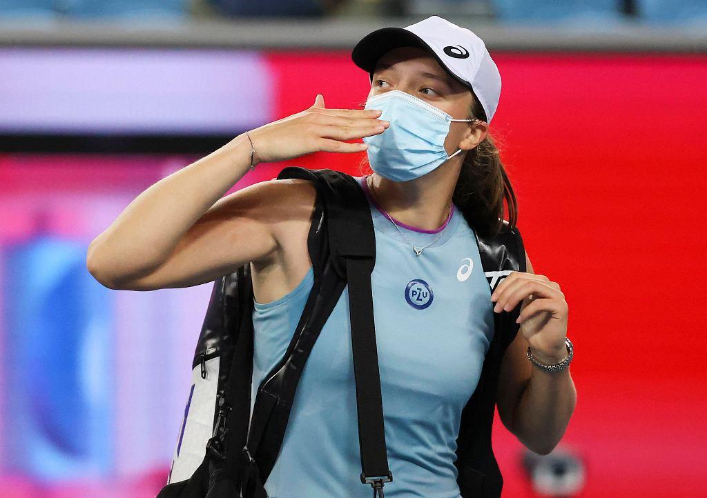 Australian Open 2021. Iga Świątek po meczu III rundy z Fioną Ferro