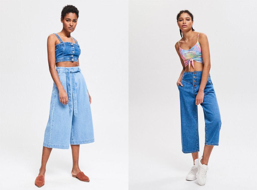 jeansy z szerokimi nogawkami - popularny w latach 70-tych trend powrócił do mody