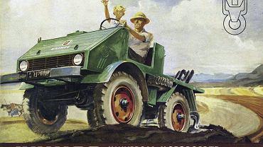 Poster reklamujący Unimoga