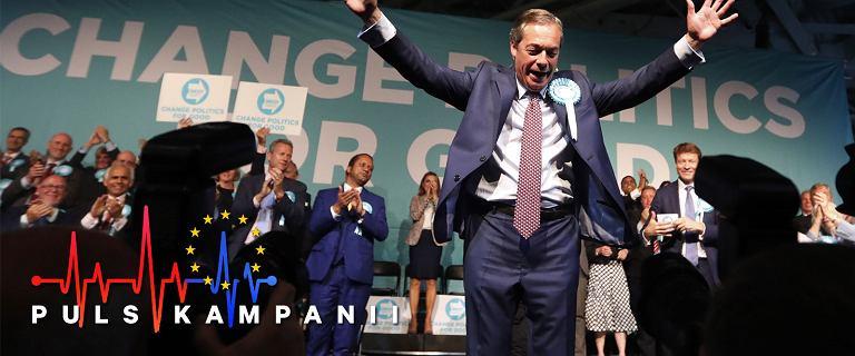 Najgłośniej propagował Brexit, wygrywa w sondażach. Farage bliski triumfu