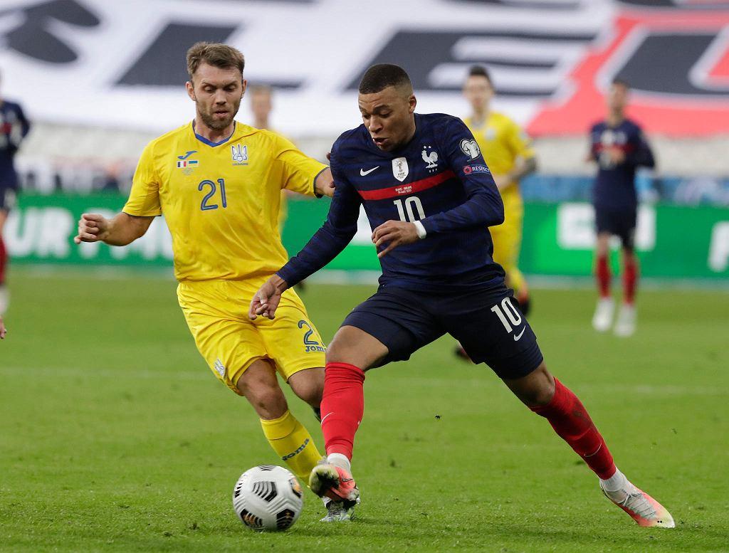 Kylian Mbappe podczas meczu Francja - Ukraina