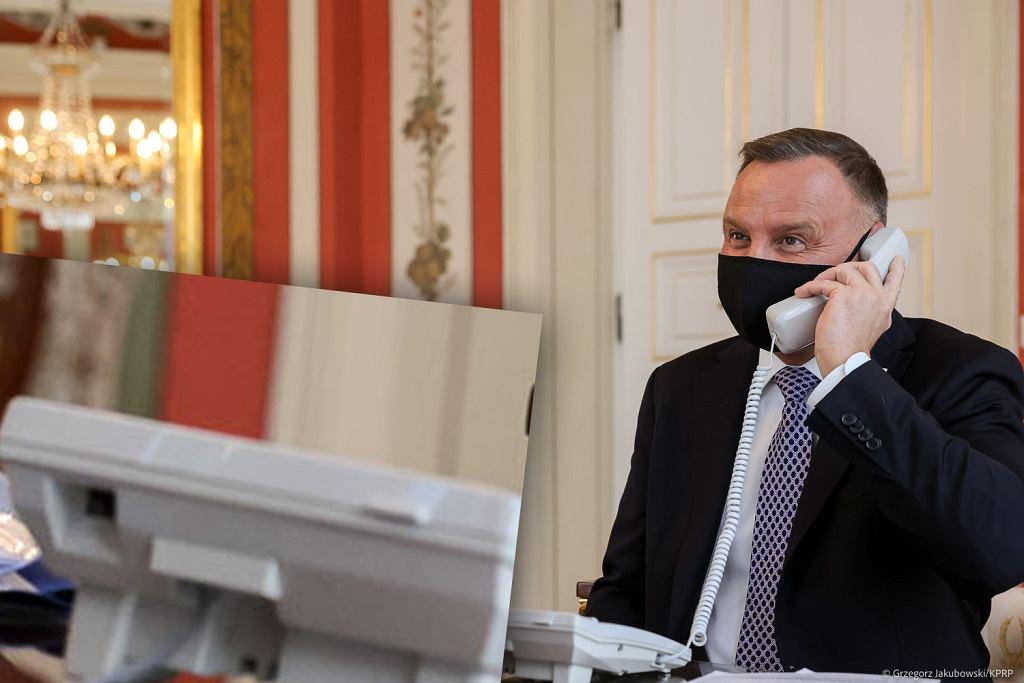 Czy prezydent Duda rozmawiał przez niepodłączony