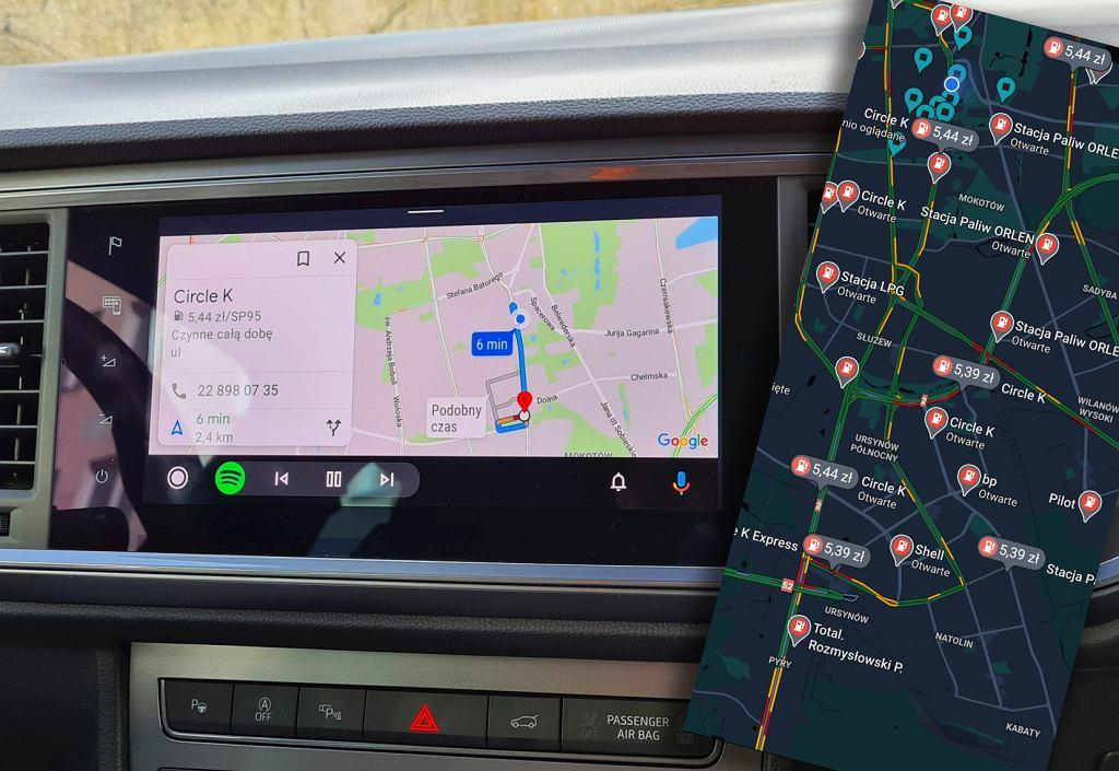 Mapy Google pozwalają sprawdzać ceny paliw na stacjach