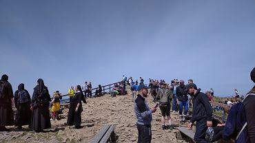 Tłumy turystów w Bieszczadach