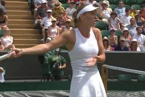 """Wozniacki wściekła po porażce na Wimbledonie. """"To niedorzeczne, absurdalne"""""""