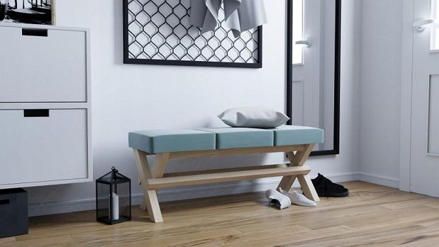 Praktyczna i stylowa ławka do przedpokoju