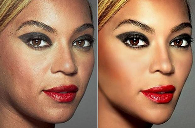 Zdjęcie numer 0 w galerii - Tak wygląda Beyonce bez Photoshopa. Ale najbardziej graficy przesadzili przy zdjęciach Kingi Rusin
