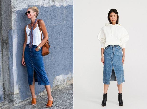 Jeansowa spódnica wygląda kobieco i stylowo