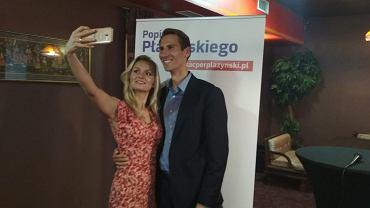 Natalia Nitek-Płażyńska i Kacper Płażyński, fot. Twitter.com/KacperPlazynski