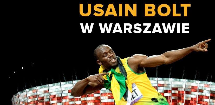 Usain Bolt 23 sierpnia pobiegnie w Warszawie