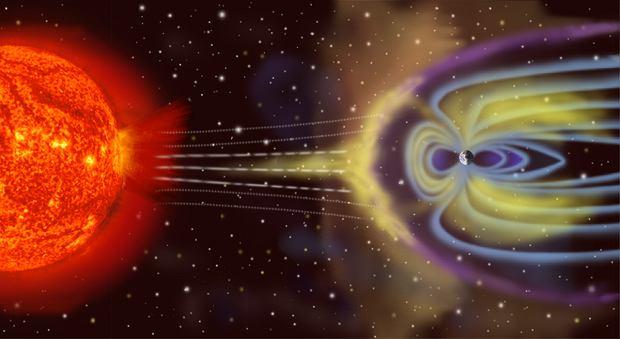 Burza magnetyczna wywoływana jest przez koronalny wyrzut masy Słońca