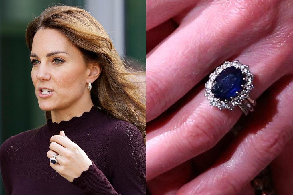 Księżna Kate w pierścionku księżnej Diany