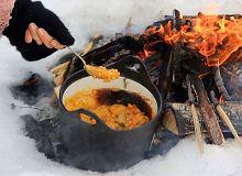 Ryż, dynia, ziemniaki iwędzona śliwka zogniska - ugotuj
