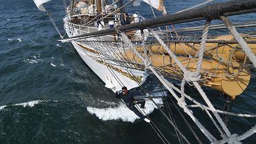 Pod żaglami brazylijskiej fregaty Cisne Branco