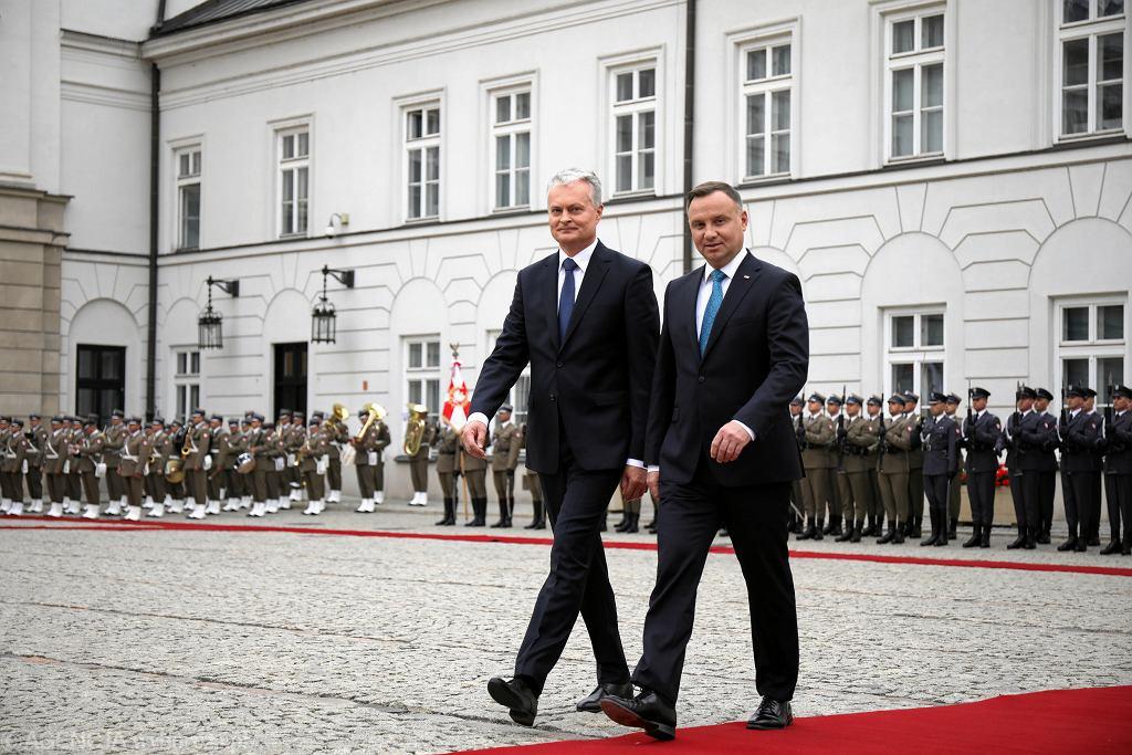 CWizyta prezydenta Republiki Litewskiej Gitanasa Nausedy w Warszawie