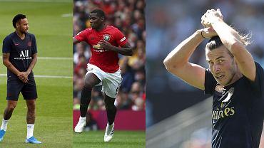 Neymar, Paul Pogba. Gareth Bale