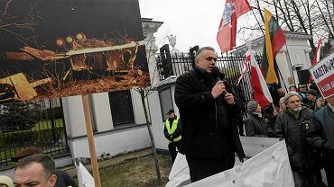 Pikieta Klubów Gazety Polskiej pod rosyjską ambasadą
