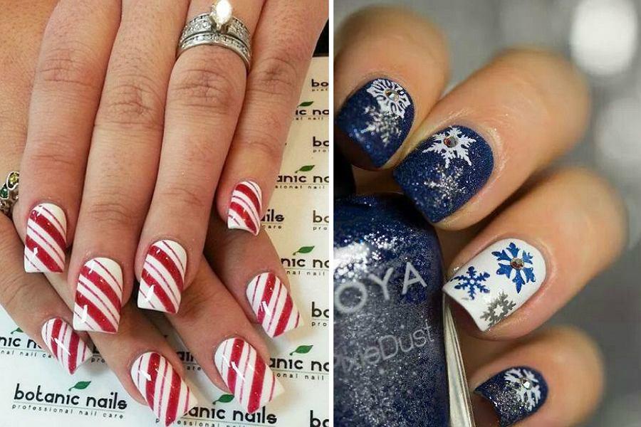 Paznokcie świąteczne Modne Wzory I Kolory Trendy Na Boże