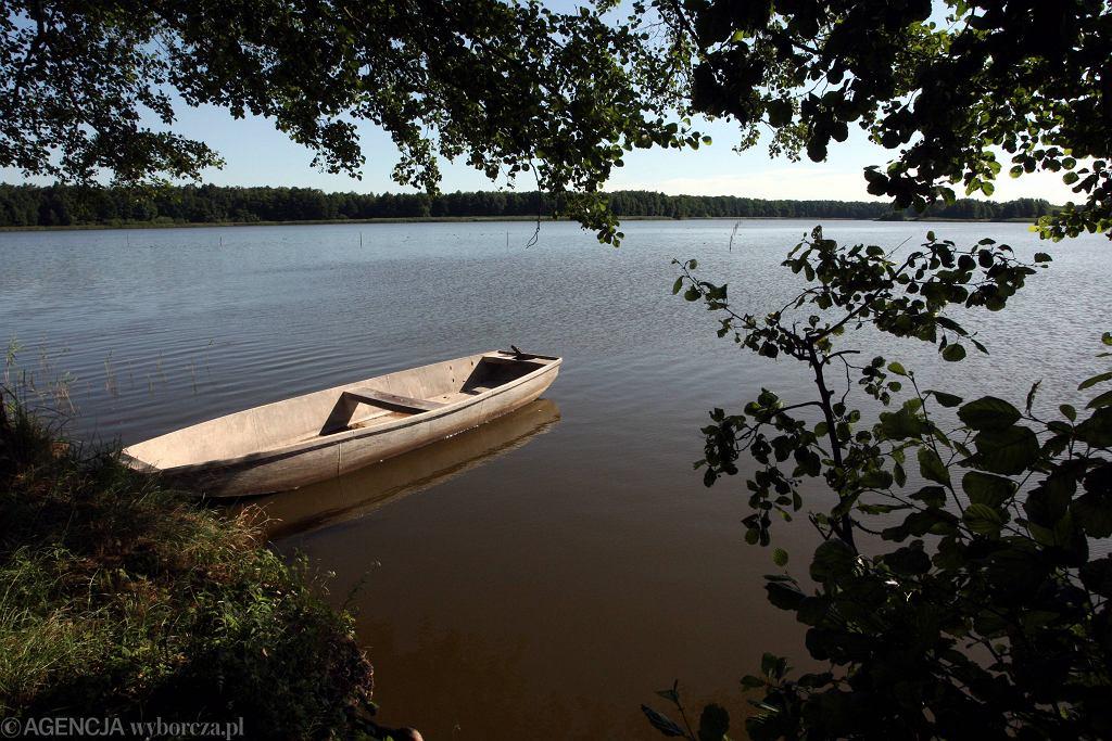 Łódka w stawie
